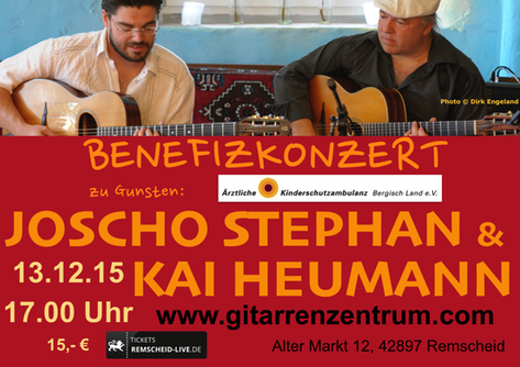 Plakat Joscho Stephan and Kai Heumann